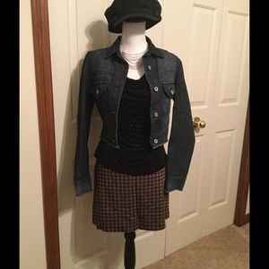 Charlotte Russe cropped denim jacket size s