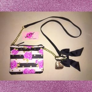 NWT Betsey Johnson Rose Purse
