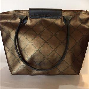 Longchamp Handbags - Longchamp Bronze Rare Tote