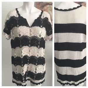 Free people knit top large