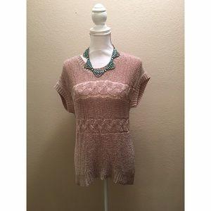 Coldwater Creek Tops - Short sleeve light crocheted top