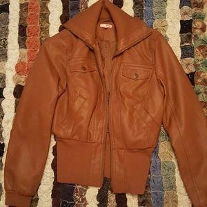 Classic Jackets & Blazers - Faux leather jacket