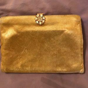 Vintage gold clutch 👛