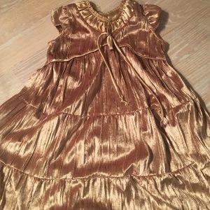 Isabel Garreton Other - Shiny Gold Dress for Little Girls