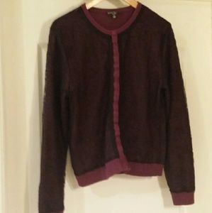 Behnaz Sarafpour Sweaters - Purple and Black Cardigan