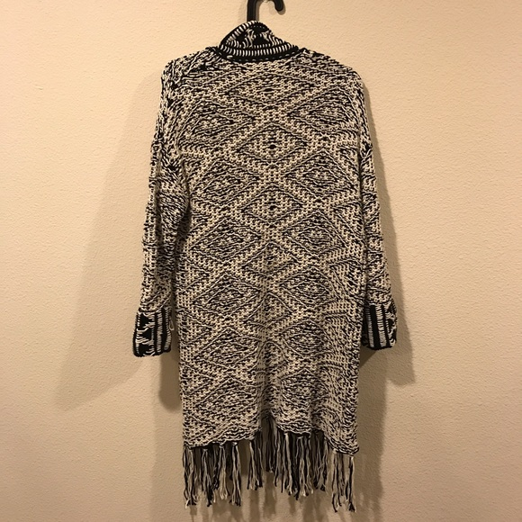 Willow & Clay Sweaters - Willow and Clay tribal long duster sweater