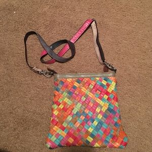 Handbags - Multi-colored leather bag with adjustable straps