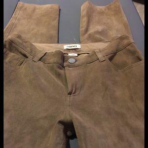 L'AGENCE Pants - L'Agence lambskin Suede pants Sz 27 skinny