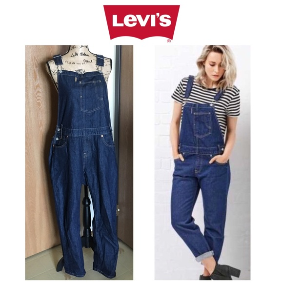 4ea9052ace36 Levi s Denim - LEVI S Dark Blue Wash Denim Bib Jeans Overalls