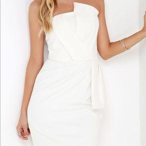 Adelyn Rae Ivory Strapless dress