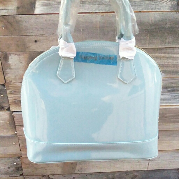 91% off Haiying Snider Handbags - Haiying Snider BABY Blue Handbag ...