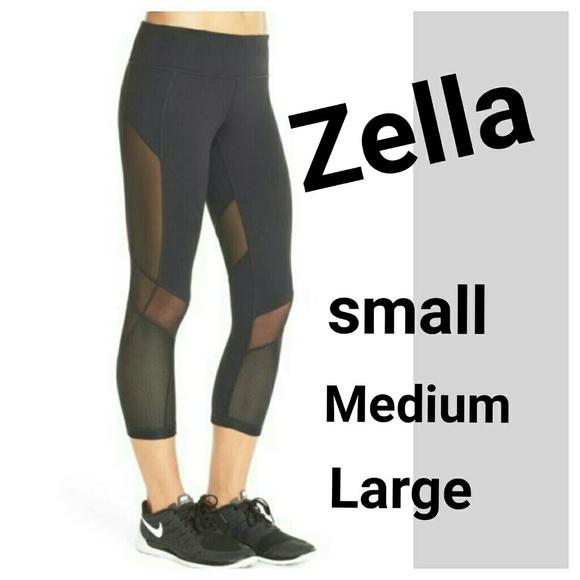 New ZELLA Black Fusion Capri Workout