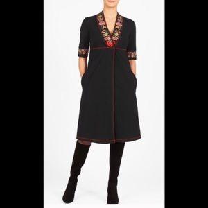 eshakti Dresses & Skirts - New Eshakti Black Knit Midi Dress L 12