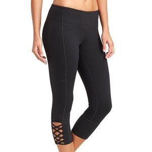 Athleta mind over mat black crop legging 2X