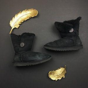 UGG Shoes - UGG Black Lambskin Booties