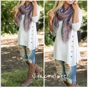 Vivacouture Tops - New Best Selling Side Button Tunic