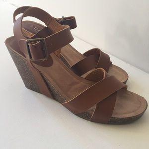 Esprit Shoes - NWOT - Esprit Cognac Leather Wedge -