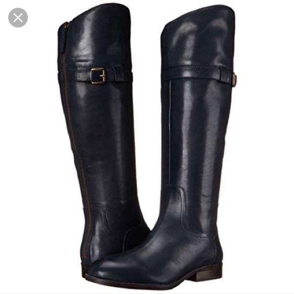 84% off Nine West Shoes - Nine West Leather Black Velika Riding ...