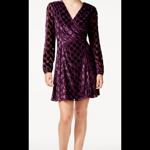 Johnson Velvet Dotprint DressesWomens Wrap Dress Poshmark Betsey lK1cFJ