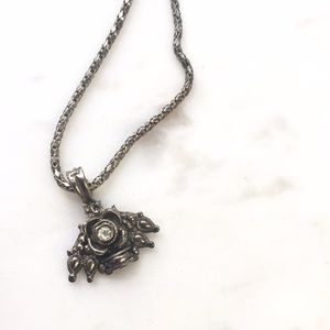 Jewelry - Grey Rose Necklace