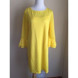 Dress Barn Dresses & Skirts - Dress Barn mod crochet 3/4 sleeve dress sz 14