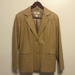 Preston & York Jackets & Blazers - LIKE NEW Preston & York Camel Leather Jacket XL