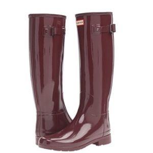 Brand new hunter refined gloss boots