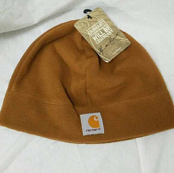 CARHARTT  nwt  Dark Tan Polar Fleece Beanie Cap 063348a66aa