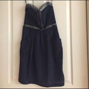 Rebecca Taylor Dresses & Skirts - Rebecca Taylor navy dress, sequin top.