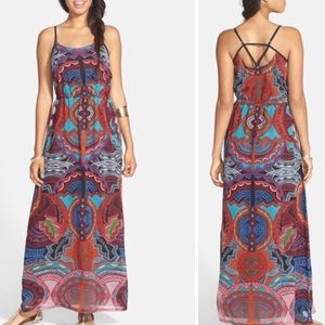 Angie Dresses & Skirts - Print Strappy Maxi Dress