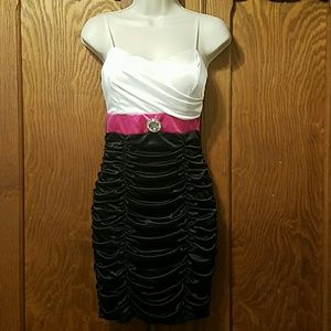 """Ruby Rox"" drape dress"