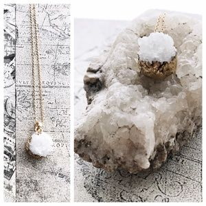 Cultiverre Jewelry - white amethyst druzy necklace (last one)