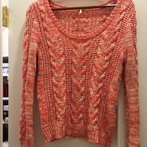 ❌❌❌❌❌❌Free people orange knit sweater