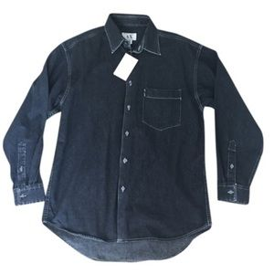 NWT AX black button down shirt