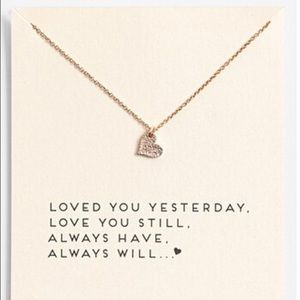 Jewelry - 📣LAST 1📣heart gold color plated Pendant necklace