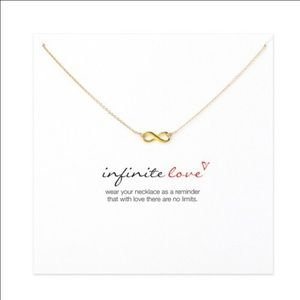 Infinite-Love plated gold color Pendant necklace