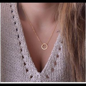 Jewelry - Simple Ring Karma Gold Plated Pendant Necklace
