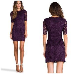 Shoshanna Dresses & Skirts - Shoshanna Magnolia Lace Davina Dress Dark Purple