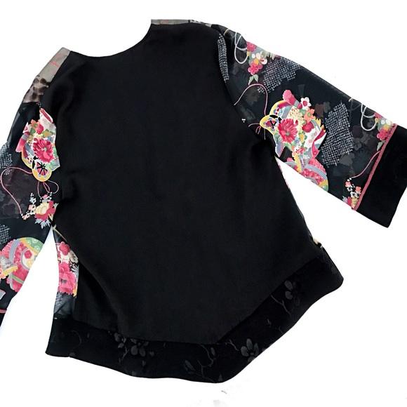 Vintage Tops - Vintage floral print kimono