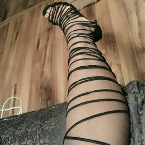 Brand new lace up heels