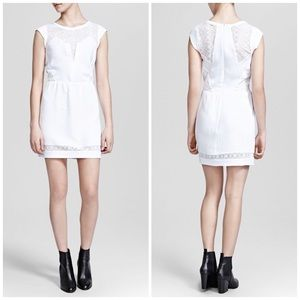 The Kooples Dresses & Skirts - The Kooples White Crepe and Wave Lace Mini Dress