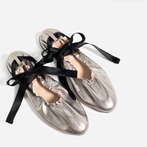 Zara Shoes - Lace-up Ballerina Flats