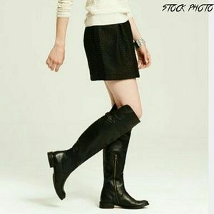 Frye Shoes - FRYE Shirley Over the Knee Black Leather Boots