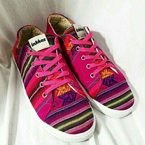 INKKAS Womens Size 8 Vivid Hot Pink Sneakers
