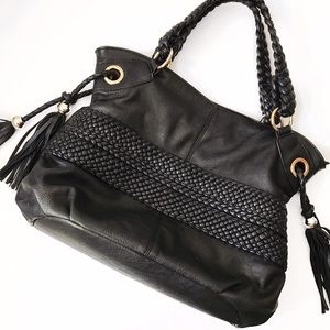 Melie Bianco Handbags - ➡️Melie Bianco Black Bella Braided Shoulder Bag⬅️