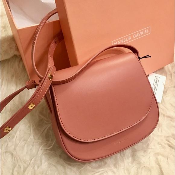 48e9982b85e5 Mansur Gavriel mini blush crossbody bag NWT