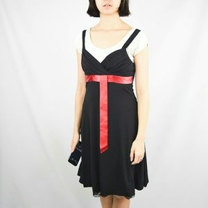 My Michelle Dresses & Skirts - Black Dress with Red Ribbon
