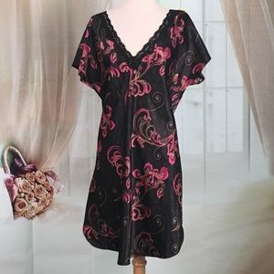 Delicates Other - Delicates Black Floral Night Gown