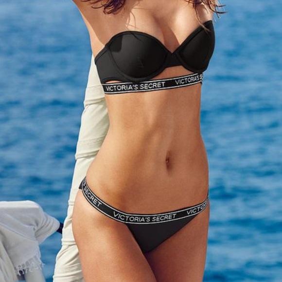 65bf29aebd NWT VS LOGO PUSH-UP BIKINI SET. NWT. PINK Victoria s Secret.  75  90. Size.  S
