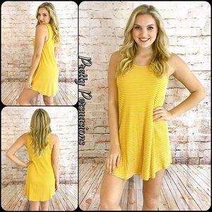 Pretty Persuasions Dresses & Skirts - SALE 🎉NWT Ribbed Striped Yellow Mini Dress Tunic